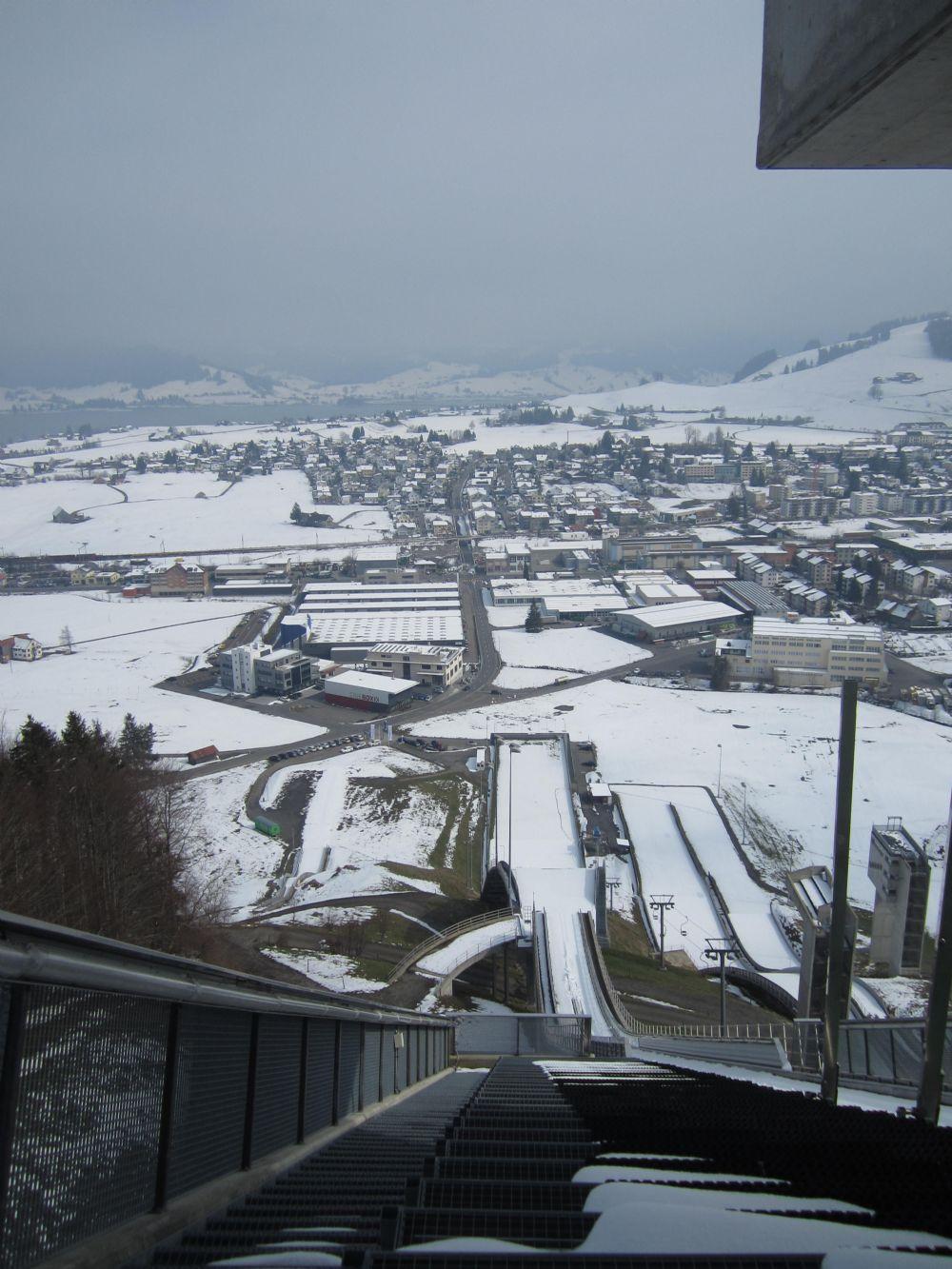 Besuch der Schanze in Einsiedeln: vom 26. März 2014