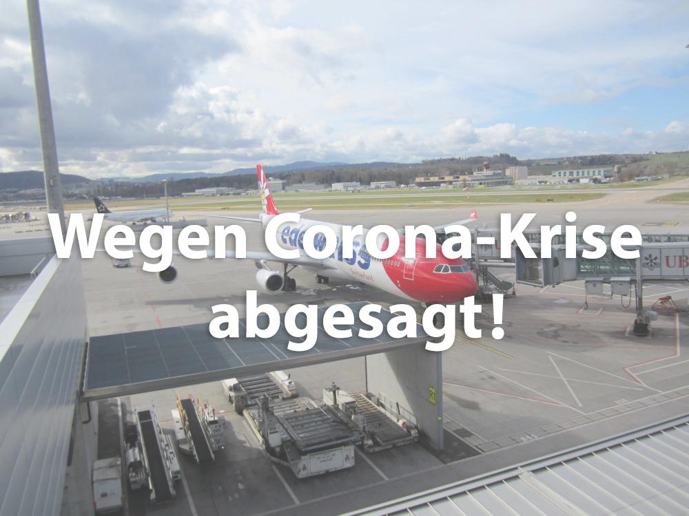 Kundenanlass Flughafen Zürich / Kloten: vom 23.04.2020
