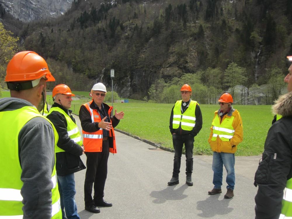 Besuch Grossprojekt Pumpspeicherwerk Linth-Limmern am : 3. Mai 2017